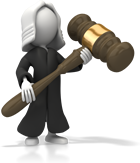 Judge holding a mallet