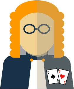 Judge With Playing Cards